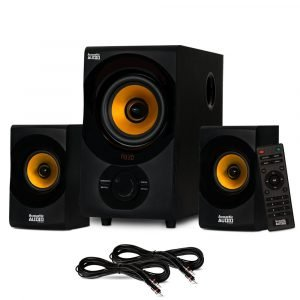 Acoustic Audio Bluetooth 2.1 Speaker System with 2 Extension Cables for Laptop